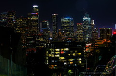 L.A City Night View from Above ( In 2 Making Images | L.A.) Tags: california cali la losangeles nightimages cityscape skyscrapers downtownla laskyline