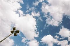 Mind in the Clouds (Jaz Ludwick Photography) Tags: film clouds 35mm nikon kodak minimal 24mm nikonf3 ais portra400 filmisnotdead