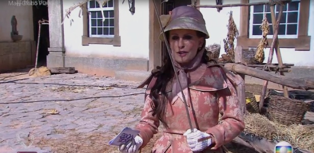 "Ana Maria usa figurino de época para promover ""Liberdade, Liberdade"""