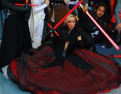 Lady Sith (The Geekian Report) Tags: moon trek star starwars losangeles force cosplay stormtroopers disney batman 501st sailor xena element lightsabers fifth steampunk the wondercon awakens mylittleponies deadpool bb8