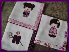 Imagem 065 (Joanninha by Chris) Tags: baby handmade artesanato beb kokeshi bordado feitoamo enxovalmenina enxovalbeb panosdeboca aplicaodetecidos