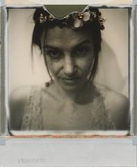 flowers (Janna Colella) Tags: blackandwhite polaroid autoritratto fiori biancoenero polaroidslr680 theimpossibleproject impossiblefilm20