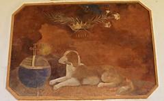 la cour des rouges (6) (canecrabe) Tags: dog chien promotion globe lys palme école croix fresque abbaye torche flambeau sorèze courdesrouges