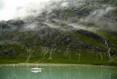 Expedition Ship in Glacier Bay 2 (Don Thoreby) Tags: usa mist mountains ice alaska cliffs waterfalls peaks glacierbay alaskancruise glacierbaynationalpark sunprincess expeditionboat princesslines tidewaterglaciers
