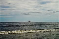 Shrimp Boat - Hunting Island SC (Meridith112) Tags: ocean statepark park summer sky cloud water clouds boat south southcarolina august bluesky boating hi atlanticocean shrimpboat lowcountry carolinas huntingisland 2015 beaufortcounty huntingislandstatepark
