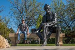 Bench Monday (_Mickster) Tags: park portrait art statue self bench randy 365 abrahamlincoln hereios