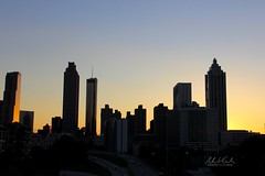 Skyline Silhouettes (andrewwebbcurtis) Tags: city atlanta urban nature skyline outdoors dusk atl south southern views glowing gloaming