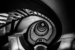 "Dark City/ ""But still they lead me back to the long winding road"" (zgr Grgey) Tags: bw stairs spiral nikon hamburg d750 darkcity 2016 14mm longandwindingroad kontorhausviertel samyang mesberghof"