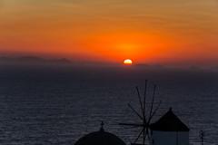 Atardecer en Oia, Santorini, Grecia