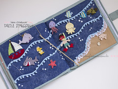 Quiet Book - atividade fundo do mar (Dani_Fressato) Tags: handmade artesanato craft felt feltro trabalhomanual quietbook ideiaseretalhos danifressato