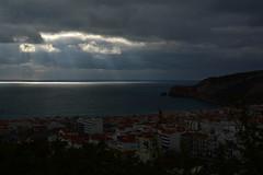 Lighting (PauloConstantino) Tags: lighting light luz portugal nature raios solares dark natural rays escuro nazar nazatown