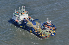 Stemat Spirit cable laying ship (John D F) Tags: aerialview aerial northsea dp2 cablelaying stemat aerialimage britainfromabove stematspirit stematmarineservices