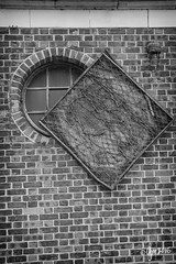 Square Cover (gmckel50) Tags: urban building brick texture abandoned window wall architecture hospital pattern screen urbanexploration urbex abandonedhospital
