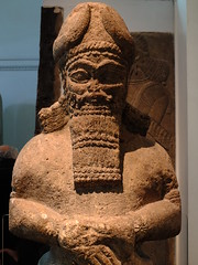 Attendant God (failing_angel) Tags: london museum camden iii divine bloomsbury britishmuseum assyrian semiramis nimrud nabu 100515 sammuramat attendantgod attendanttemple nabugod writingadadnirari