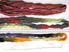 Hand paints as Hanks (vashtirama) Tags: crochet variegated filet multicolor freeform handdyedyarn selfstriping handpaintyarn crochetclass shortstriping barebonesscarf stitchgames