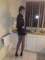 IMG_3260 (valkex1) Tags: kitchen stockings leather skirt jacket mature seams