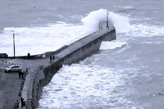 Porthleven Pier (David Canon) Tags: sea coast pier cornwall waves porthleven