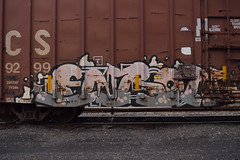 ENRON? (TheGraffitiHunters) Tags: street art train graffiti paint spray boxcar enron