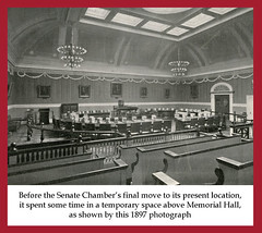Senate Chamber Temporary Space, 1897 (State Library of Massachusetts) Tags: capitol senatechamber bostonmassachusetts massachusettsstatehouse massachusettslegislature massachusettssenate