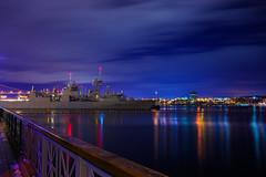 HMCS St. John's (Brandon Finyanos) Tags: light st night john harbor long exposure harbour military navy brandon halifax caf johns cf hmcs highquality finyanos