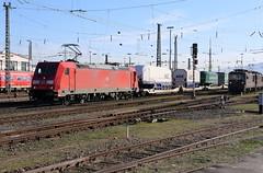 DB Schenker 185 242-5 Glastransport, Basel Bad Bhf