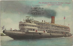 """SHIP SS CHRISTOPHER COLUMBUS Whaleback Steamer Excursion Ferry in Chicago Alexander McDougall & American Steel Barge Curved-decked Snout-nosed Ship built Duluth-Superior WI 4 (UpNorth Memories - Donald (Don) Harrison) Tags: travel usa heritage history tourism st vintage antique michigan postcard memories restaurants hotels trailer roadside upnorth steamship cafes excursion attractions motels mackinac cottages cabins campgrounds city"""" bridge"""" island"""" """"car upnorthmemories rppc wonders"""" """"big """"railroad """"michigan memories"""" mac"""" """"state parks"""" entertainment"""" """"natural harrison"""" """"roadside ferry"""" """"travel """"don """"tourist """"mackinaw puremichigan stops"""" """"upnorth straits"""" ignace"""""""