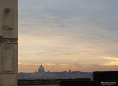 sunset Rome (phacelias) Tags: city sunset panorama orange rome roma garden zonsondergang tramonto view villa vista tuin uitzicht arancio stad oranje giardini citt villamedici