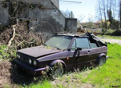 Volkswagen Golf Cabriolet (Alessio3373) Tags: abandoned neglected forgotten scrap abandonment decayed unloved unused scrapped abandonedcars scrappedcars forgottencars autoabbandonate volkswagengolfcabriolet