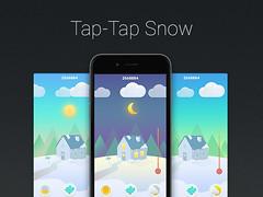 Tap-Tap Snow (ijstheedribbble) Tags: inspiration apple design tv graphic screensaver popular dribbble iftt