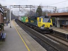 70001 Kidsgrove 130216 (wwatfam) Tags: railroad england station electric train diesel britain transport container locomotive railways staffordshire freight freightliner kidsgrove 70001