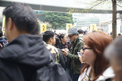Hongkonger kipnapped by Communist China (ha3633) Tags: auto 35mm jan mc h ww f18 petition protesting 2016 porst a7r kipnapping