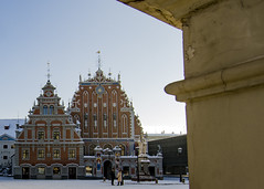 Riga (HybridDave) Tags: city travel snow cold beautiful composition photography nikon europe exposure photographer culture baltic latvia frame townhall riga rix blackheads hybriddave