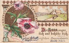 alte Glückwunschkarte - Verlag von Carl Hirsch Konstanz/Deutschland Emmishofen/Schweiz (mama knipst!) Tags: altepostkarte glückwunschkarte 1906 alteglückwunschkarte postkarte gruskarte geburtstagsglückwünsche segenswünsche 4mos bibelworte bibelzitat