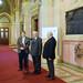 Vejkey Imre KDNP frakcióvezető-helyettes, Rubovszky György, KDNP frakcióvezető-helyettes és Lomnici Zoltán, az Emberi Méltóság Tanácsának elnöke