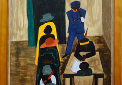Lawrence, The Migration Series, 1940-41 (detail of 59 of 60 panels)