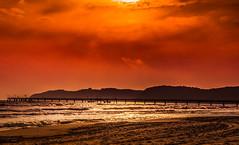 Binz - Rgen (KJ Photographie) Tags: light sunset sea sky beach night clouds strand germany abend licht meer europa sonnenuntergang himmel dmmerung rgen landschaft binz lightroom sonnenschein nikond5000