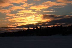 Day's End (Cindy's Here) Tags: sunset ontario canada cold colors canon shuniah