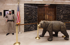 guardians at the gate (** RCB **) Tags: chp sacramento grizzlybear 366 californiahighwaypatrol governorsoffice stevenbennett ursusarctoscalifornicus bacteriabear