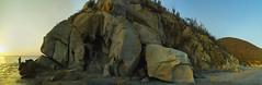 Cabo Tortuga (Santiago Forero Molano) Tags: santa sea panorama mountain beach stone del mar sand cabo colombia coconut playa panoramic arena coco marta montaa tortuga cay roca rythm ritmo turlte