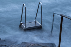 I skipped the swimming today (Per-Karlsson) Tags: longexposure sea water rock waves sweden ladder marstrand