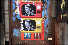 East End Street Art (Mabacam) Tags: streetart london pasteup television wall graffiti tv mural paste wallart urbanart shoreditch freehand publicart davidbowie eastend wheatpasting 2016 urbanwall d7606