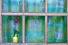 It's not a painting... [Revisited] (AzIbiss) Tags: old pink flower green window glass yellow rural canon painting bottle 500v20f russia outdoor curtain magenta craft pale clay jar jug amateur ewer greenish earthen tomsk kuskovo yellowish valance flagon fictile canondigital canonphotography hyperzoom 1500v60f 1000v40f westernsiberia platinumheartaward sx50 canonsx50 fictilecraft