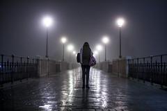 (veri, veras) Tags: bridge portrait fog night noche naturallight niebla