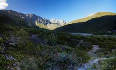 20160208-33-Rees-Dart day 1 - Last light on Clarke Mountains pano (Roger T Wong) Tags: travel newzealand panorama mountains trek outdoors nationalpark walk pano hike hut np bushwalk tramp mtaspiringnationalpark 2016 ptgui reesdart southisand reesvalley sony2470 rogertwong sel2470z sonyfe2470mmf4zaosscarlzeissvariotessart sonya7ii sonyilce7m2 sonyalpha7ii reeshut