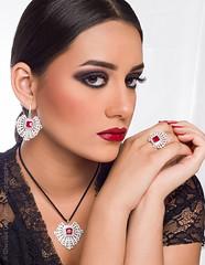 Renad Beauty & Jewelry Photoshoot (FarCorner) Tags: people white home beautiful beauty studio model photoshoot modeling background flash makeup jewelry headshot saudi arabia jeddah collaboration strobe stylist hairstylist strobist seameless