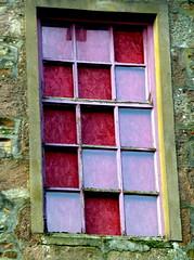 patchwork window (Jackal1) Tags: window glass wall patchwork windowinwall