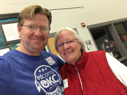 Wes Fryer and Sue Hooge at EdCampOKC 201 by Wesley Fryer, on Flickr