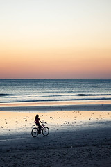 Cycling on the beach (minorninth9) Tags: travel sunset beach sand nicaragua nohands jiquilillo