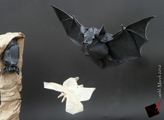 darkness cry (-sebl-) Tags: museum night paper bourges origami european darkness bat meeting cry mulberry sebl