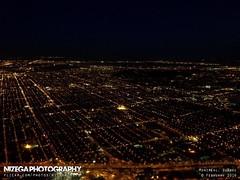 Aerial view of Villeray (nizega) Tags: sunset canada night island dawn lights downtown view quebec montreal aerial lasalle mercier est ndg verdun hochelaga villeray